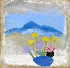 Winifred Nicholson ,Still Life – Flowers in Landscape Winifred Nicholson, Still Life Flowers, Post Impressionism, Naive Art, Conceptual Art, Modern Art, Contemporary, Illustration Art, Illustrations