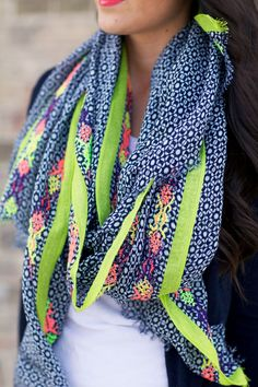 J.Crew Linen Scarf for Spring
