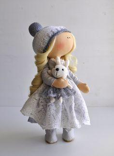 Sale 30%Fabric doll Textile doll Handmade doll Tilda doll