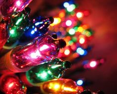 closeups of Christmas lights make me so happy!