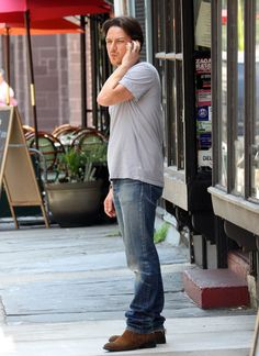 """James McAvoy On Set Of """"The Disappearance of Eleanor Rigby"""" on Wednesday, July 11."""
