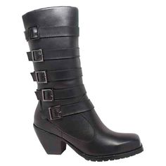 RideTecs boots are both functional and stylish, providing technologically advanced footwear in a unique design for both the western and biker enthusiast. These women's full-grain leather boots feature