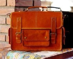 92dcdfce6595 Leather Classic Notebook Bag. (x)