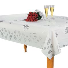 plastic table roll 100 feetSilver Wedding Bell Printed Banquet Roll - OrientalTrading.com