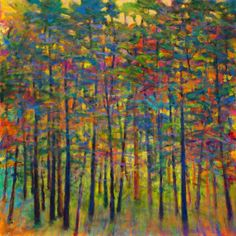 Ken Elliott / For the Color: New Work: Light Through the Green Woods, oil 40 x 40 inches