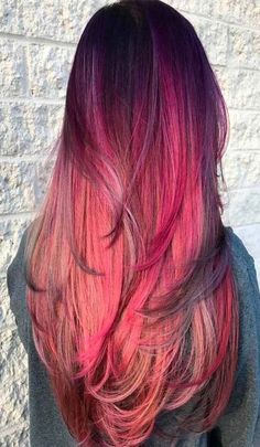 Ombre Hair Color Trends - Is The Silver Style - Stylendesigns Bright Hair Colors, Hair Color Pink, New Hair Colors, Purple Hair, Bright Coloured Hair, Gorgeous Hair Color, Cool Hair Color, Spring Hairstyles, Cool Hairstyles