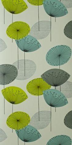 Dandelion mobile wallpaper porcelain yellow miss print - Sanderson dandelion clocks wallpaper ...