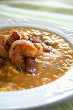 Christmas Soup Menu : Sweet Corn, Peppered Bacon And Shrimp Chowder Chili Recipes, Seafood Recipes, Soup Recipes, Cooking Recipes, Shrimp Chowder, Corn Chowder, Chili Soup, Pizza, Soup And Sandwich