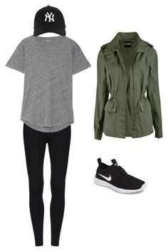 """Airport Outfit"" by bhiersw on Polyvore featuring Madewell and NIKE"