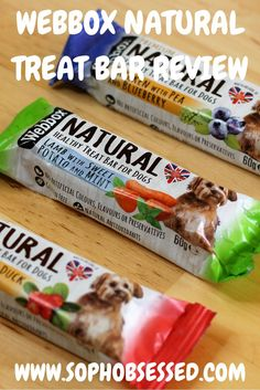 My review of the WEBBOX NATURAL TREAT BAR is up check out our thoughts!!!