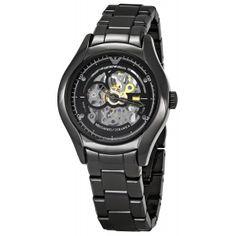 Buy Emporio Armani Men's AR1427 Meccanico Skeleton Dial Watch Online armaniemporiowatches.co.uk