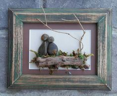 Pebble Art / Rock Art Couple beautiful outdoors wedding