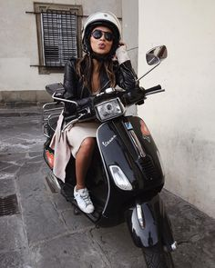 """First time riding a Vespa! ❤️"""