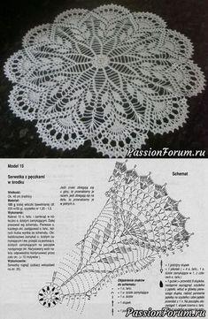 Newest Pictures Crochet Doilies Centerpi Crochet - Diy Crafts - maallure Crochet Tablecloth Pattern, Free Crochet Doily Patterns, Crochet Doily Diagram, Crochet Motifs, Crochet Chart, Crochet Stitches, Knitting Patterns, Filet Crochet, Crochet Diy