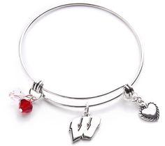 Wisconsin Badgers Bangle Bracelet - Ashley Bridget Wisconsin Badgers b220cdff4