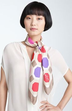 kate spade new york octagonal silk scarf