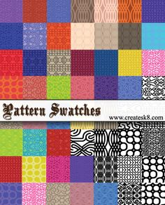 54 Pattern Swatches by ~namespace on deviantART