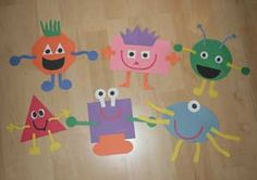 "shape monster crafts ""M is for monsters"""