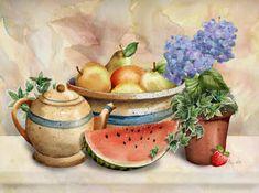 New Watermelon by Abby White ~ still life art