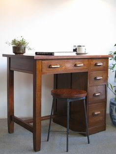 i choose a wooden desk so when iam at home i can go on it when someone elese is one the other one. I also like because of all the storage.
