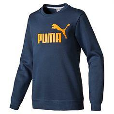 Rebel Sport - Puma Boys Essential Large Logo Crew Sweat