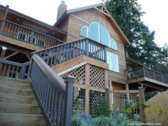 The outside has a huge wrap-around porch for taking advantage of beautiful mornings.