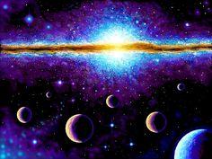 Planets and galaxy by DeCORinASON