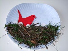 spring theme: Bird in a nest craft