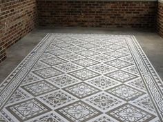 A neat way to dress up a concrete floor without doing the whole floor.