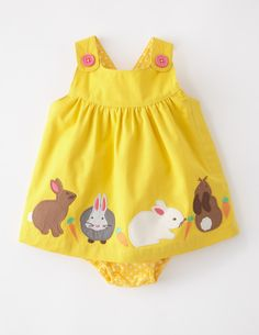 I've spotted this @BodenClothing Appliqué Button Pinnie Custard/Bunnies