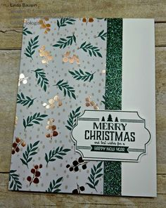 christmas cards This super cute card is a real snap to make with very little materials. Perfect type of card to do when you are making multiple cards, like at Christmas. This card was designed for my TEAM Challenge by Leigh Amburgey. Simple Christmas Cards, Christmas Card Crafts, Homemade Christmas Cards, Christmas Cards To Make, Homemade Cards, Stampin Up Peace This Christmas, Christmas Card Designs, Chrismas Cards, Christmas Labels