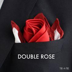 double rose pocket square fold