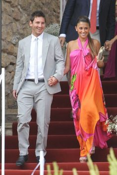 Lionel Messi Professional Footballer With Girlfriend Antonella Roccuzzo in new images, photos & pictures. Football Wags, Wife And Girlfriend, Antonella Roccuzzo, Xavi Hernandez, Golden Girls, Messi And His Wife, Players Wives, Outfits, Party Dresses