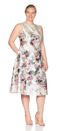 9 plus size floral dresses for formal events Plus Size Dress Outfits, Curvy Outfits, Tea Length Dresses, Short Dresses, Dresses For Formal Events, Evening Dresses, Summer Dresses, Curvy Dress, Fashion 2020