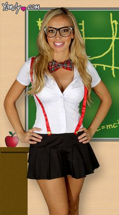 Naughty blonde teacher