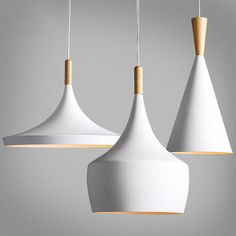 Modern Wood Metal Light Chandelier Pendant Lighting Ceiling Fixture White 3550HC in Home, Furniture & DIY, Lighting, Ceiling Lights & Chandeliers | eBay!