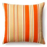 """Found it at Wayfair - 20"""" Thick Stripes Outdoor Decorative Pillow in Orange"""