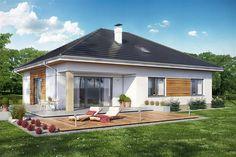 Projekt domu DL Heros 4 z wiatą garażową CE - DOM - gotowy koszt budowy Shed, Outdoor Structures, Patio, Outdoor Decor, House, Home Decor, Decoration Home, Home, Room Decor