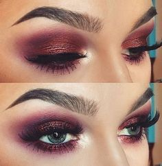 copper plum eye shadow. #makeup