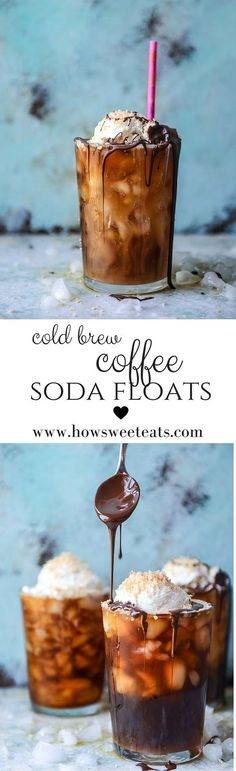 cold brew coffee soda floats! I howsweeteats.com