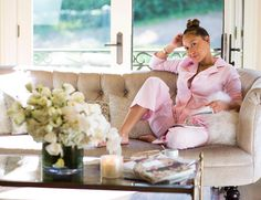 "22.5k Likes, 802 Comments - Adrienne Eliza Houghton (@adriennebailon) on Instagram: ""h o m e  saturday's are for staying in your pajamas, candles, drinking tea, perusing vogue, &…"""