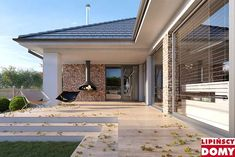 Modern Bungalow House Design, Modern House Plans, House Plans South Africa, Wood Architecture, Garden Office, Facade House, Yard Landscaping, Home Renovation, Exterior Design