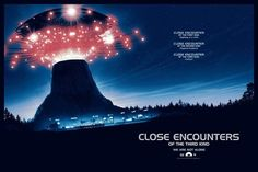 Close Encounters of the Third Kind by Matt Ferguson Best Sci Fi Movie, Sci Fi Movies, Horror Movies, 80s Movie Posters, Movie Poster Art, Ufo Tv Series, Fiction Movies, Science Fiction, Adventure Film