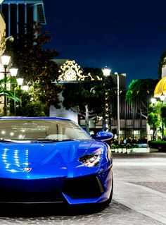 Lamborghini Blu Aventador
