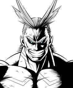 Toshinori Yagi / All Might (My Hero Academia) Buko No Hero Academia, My Hero Academia Manga, Hero Tattoo, Manga Anime, Anime Art, Hero Academia Characters, Anime Sketch, Held, Fan Art