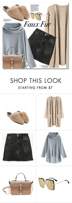 """Wow Factor: Faux Fur"" by fshionme ❤ liked on Polyvore featuring RE/DONE and fauxfur"