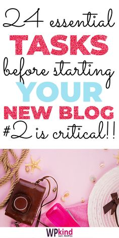 Thinking of starting a lifestyle blog, a travel blog, a craft blog, or you just want to blog about blogging for money? Do these 24 essential WordPress settings to get your blog on the right track for success! Includes tips on what WordPress plugins to install on your blog, how to pick a WordPress theme, how to secure your blog, improve SEO and lots more. #bloggingtips #bloggingforbeginners #wordpresstips #wordpresstutorials #bloggingformoney