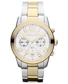Michael Kors Watch, Women's Chronograph Two-Tone