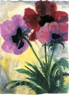 : Emil Nolde - Violet Poppy