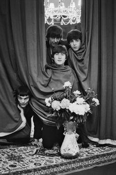 George Harrison, Paul McCartney, and John Lennon